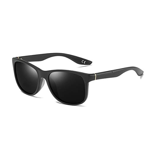 de Black BLEVET Classique BE006 Lens Frame Sport Lunettes Soleil Grey Femmes de Polarisées UV400 Lunettes Hommes 787rgZc