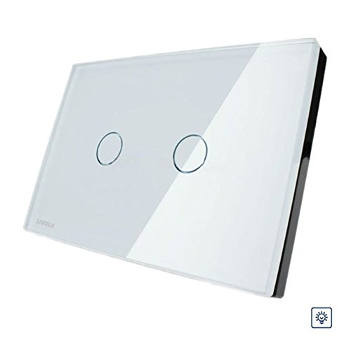 New Livolo White Crystal Glass Dimmer Switch VL-C302D-81 AC110-250V
