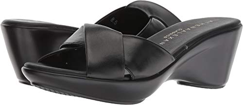 Athena Alexander Women's Orlando Wedge Sandal, Black, 9 M US