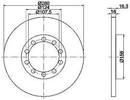 TEXTAR 92151803 Bremsscheibe Set of 2