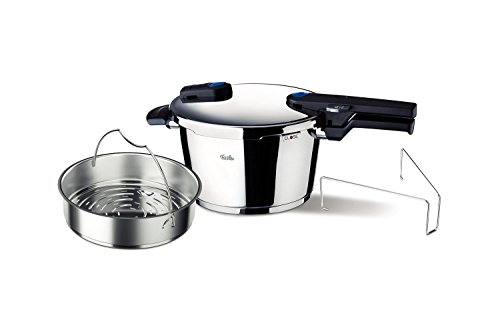 Fissler FSSFIS5860 Vitaquick FIS5860 with Perforated Inset, 10.6 quart, Stainless Steel