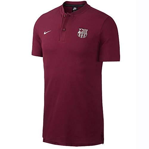 (Nike 2018-2019 Barcelona Authentic Polo Football Soccer T-Shirt Jersey (Deep Maroon))