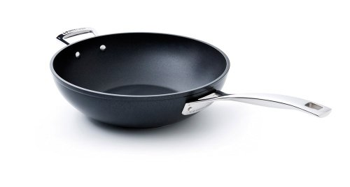 Le Creuset 96202026000000 Aluminium-Antihaft-WOK-Pfanne mit Gegengriff  26 cm, schwarz