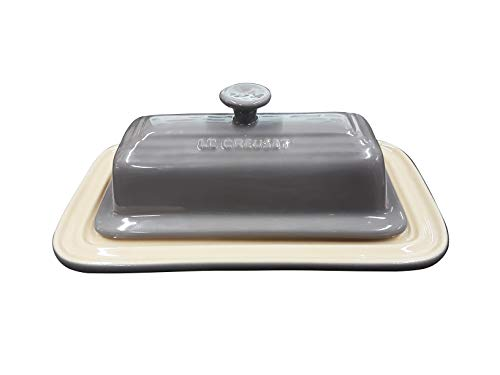 Le Creuset Stoneware Butter Dish, Grey