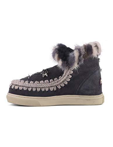 Visone Applicazioni Eskisneptcfur Pelle E Gomma Stars Off Mou Lana Stivale Eskimo Black Mink Fondo Con In And Sneaker Su RUO0p8
