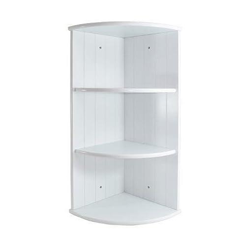 Weiß Holz 3 Etagen Eckregal Regal Panel Design Badezimmer