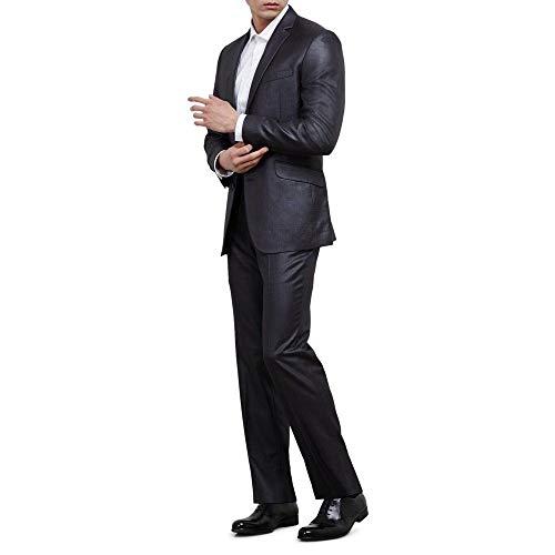Kenneth Cole REACTION Mens Slim Fit Unfinished Hem Suit