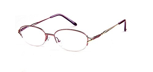 New Women Real Glass Reading Glasses, UV Coating with Stainless Steel Designer Acetate Frame Available in +1.0.+1.5,+2.0,+2.5,+3.0,+3.5,+4.0 Magnification (silver/purple, - With Glass Lenses Real Reading Glasses