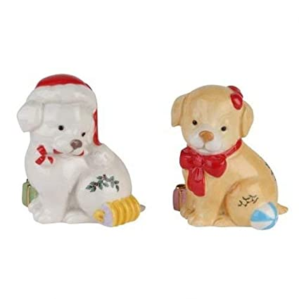 Spode Christmas Tree Puppy Candy Jar 1623712