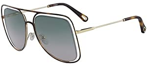 Chloé Poppy CE130S Havana Gold/Green Shaded Rose 57/17/140 Women Sunglasses