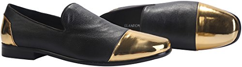 Men's Loafers Men Loafers Luxury Classic Leather Italian Fashion Snakeskin for Dress Black Black Leather Loafers Mens ELANROMAN Shoes 8SFdqpB8