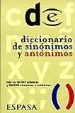 Diccionario De Sinonimos y Antonimos (Espansa De Bolsillo Series)
