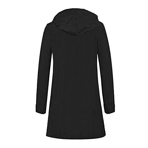 Sweatshirt Oversize Noir Pull Tunique Top Jumper Cardigan Long Veste Grande Unie over Solike Femme Sweat Manteau Gilet Taille Casual Uq5xOw1