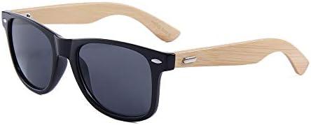 bdbef04099 Lentes de Sol Bamboo para Hombre y Mujer Color Negro con Proteccion UV400,  Gafas de Sol de Madera de Bambú Wayfarer Style