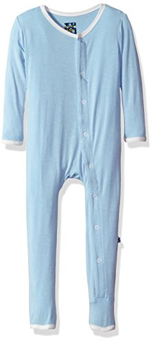 Kickee Pants Toddler Boys' Holiday Fitted Applique Coverall, Pond I Love Mom, 4T