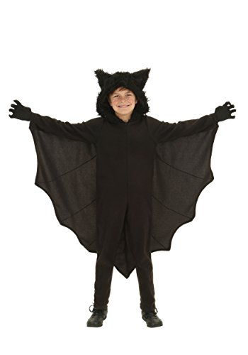 Make Bat Costume Halloween (Kid's Fleece Bat Costume Child Fuzzy Flying Bat Costume)