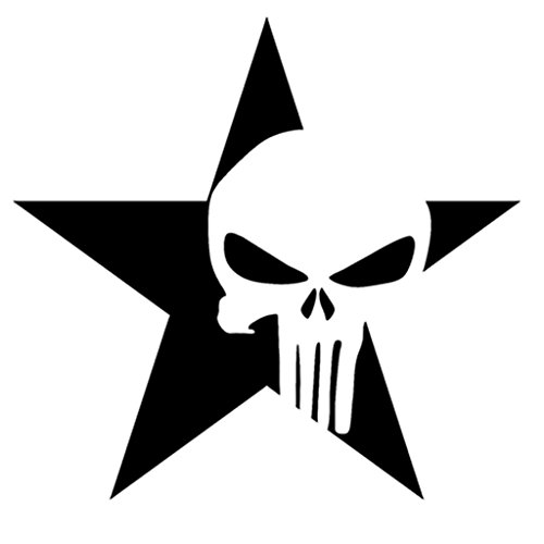 Jeep Punisher Military Star Sticker Vinyl Decal