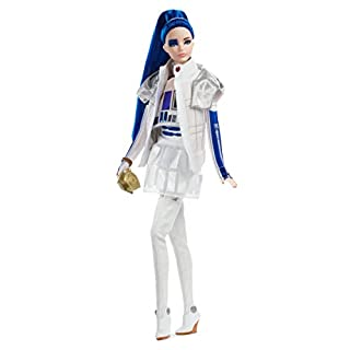 Barbie Collector Star Wars R2-D2 Barbie Doll, 11.5-inch in Dome Skirt and Bomber Jacket, with Doll Stand and Certificate of Authenticity [Amazon Exclusive], White and Blue, Model Number: GHT79