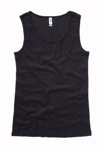 Bella+Canvas Missy Wide-Strap Baby Rib Tank - Black - M
