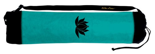 Wai Lana Yoga and Pilates Lotus Tote, Black/Jade