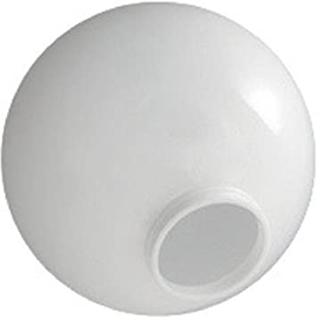 10 Inch White Acrylic Lamp Post Globes With 3.91 Inch Solid Flange