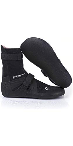 Rip Curl Flashbomb 7mm 2018 Round Toe Wetsuit Boots UK 12 Black (Rip Curl Flash Bomb Wetsuit)