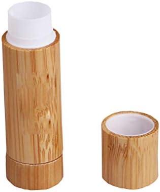 Lurrose - 2 tubos de pintalabios de bambú vacíos para hacer bálsamo labial, estuche para botella de tubo brillante: Amazon.es: Equipaje