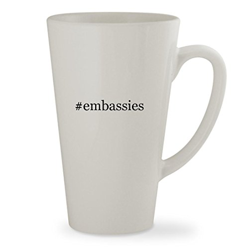 #embassies - 17oz Hashtag White Sturdy Ceramic Latte Cup Mug