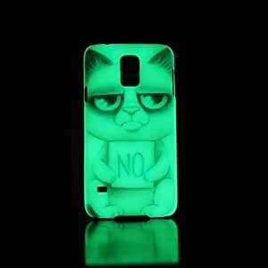 HJZ Samsung S5 I9600 compatible Graphic/Special Design/Glow in the Dark Plastic Back Cover