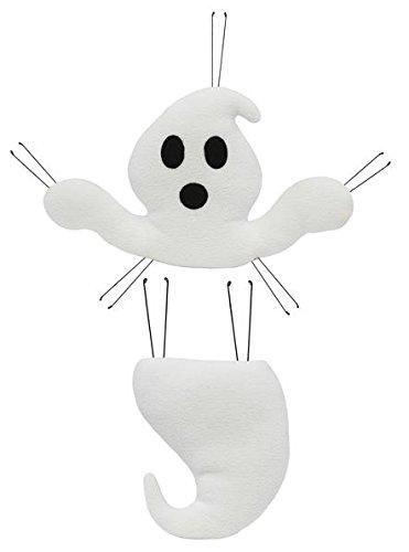 Ghost Halloween Head Tail plush wreath embellishment kit (2 pieces, 18.5