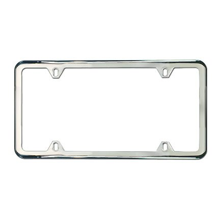 Genuine Mercedes Benz Slimline Frame, Polished Stainless ()