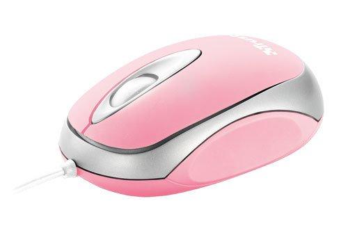 191 opinioni per Trust Centa Mouse ottico compatto USB a 3 tasti, Rosa