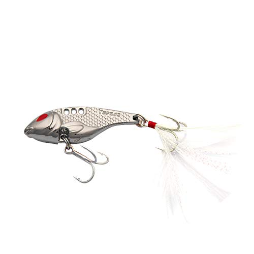 You May 10g/15g/20g/25g Feathers Metal Hard Fishing Lures Baits Treble Hooks Fishing Tackle