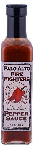 Palo Alto Firefighters, Sauce Hot Pepper, 8.5 Ounce - Gourmet Pepper Hot Sauce