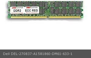 256x72 CL3 1.8v 240 Pin ECC//Reg DMS DIMM Single Rank DMS Data Memory Systems Replacement for Dell A1581860 PowerEdge SC1425 2GB DMS Certified Memory DDR2-400 PC2-3200