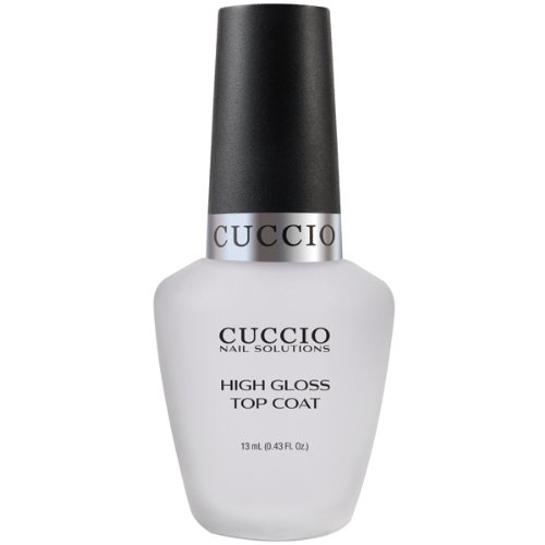 Cuccio Color Top Nail Coat, High Gloss Top Coat, .43 Ounce