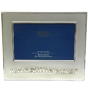 Happy 50th Birthday Photo Frame Silver Colour 6x4 Amazoncouk
