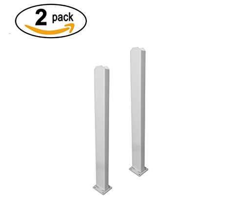 Zippity Outdoor Products ZP19011 Galvanized Steel Surface Mount for Vinyl Posts (2 Pack)