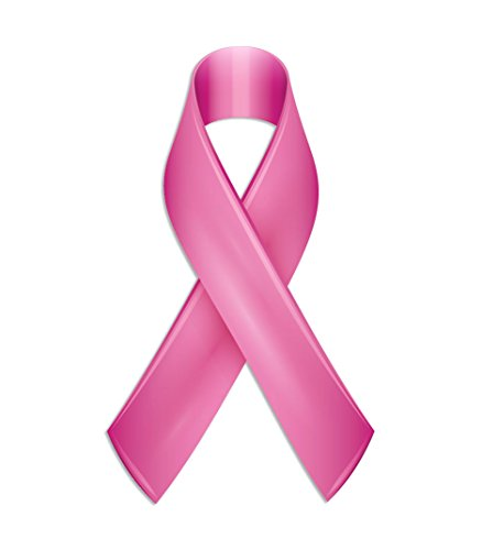 Pink Ribbon Stickers Official Breast Cancer Awareness Decals 50 Pack