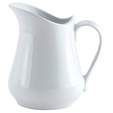 HIC Classic Porcelain Pitcher and Creamer, White, 8-Ounce