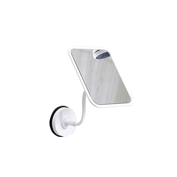 Specchio per il trucco A parete Specchio da toilette, Ventosa portatile rettangolare HD 360 gradi di rotazione tazza di… 1 spesavip