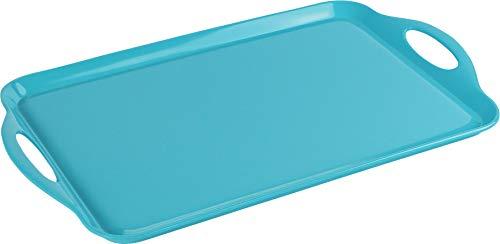Calypso Basics by Reston Lloyd Melamine Rectangular Tray, Turquoise (Outdoor Serving Tray)