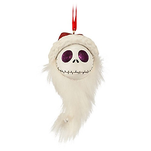 (Disney's Jack Skellington Ornament Santa Head. Nightmare Before Chritmas)