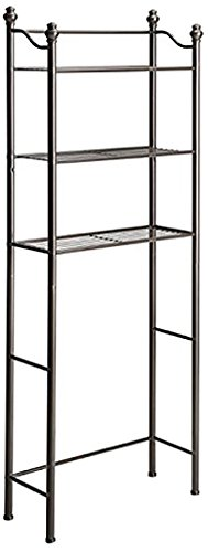 - Organize It All 3 Tier Over The Toilet Bathroom Storage Space Saver - Oil Rubbed Bronze