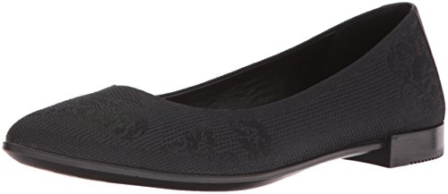 1766c6af6108c3 Ecco Damen Shape Pointy Ballerina Slipper Schwarz Black - liv-stuck ...