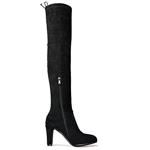 Half Boots Zipper Black Women's TAOFFEN qOFTwaxzW