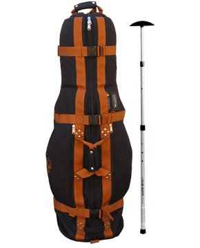 Club Glove Last Bag Golf Travel Cover with Free Stiff Arm Black/Copper, Outdoor Stuffs
