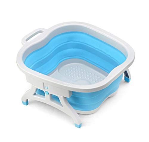 DAFREW Foot tub,Massage granule After folding Portable foot massager (Color : Blue)