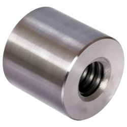 Round trapezoidal leadscrew nut stainless 1.4305 Tr.24x5 single start left length=36mm, outer diameter=50mm by Maedler