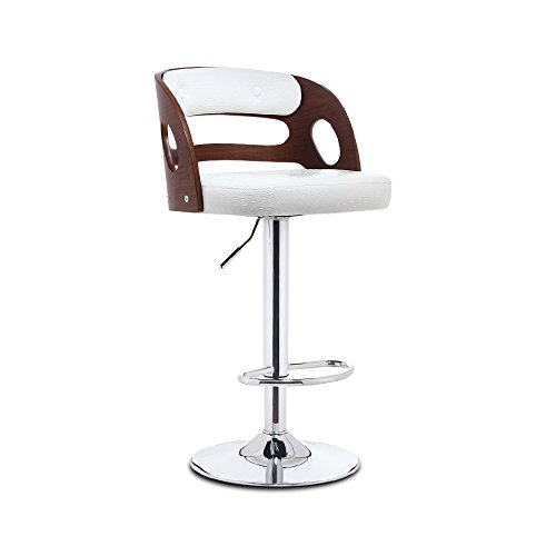 Solid Wood Bar Chair Lift Bar Chair Front High Stool Bar Stool Backrest Tables And Chairs American Bar Chairs Solid Wood Back PU Leather Paint Accessories Gas Bar ( Color : D ) by PM Barstools
